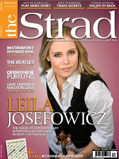 Leila's on the Cover of The Strad